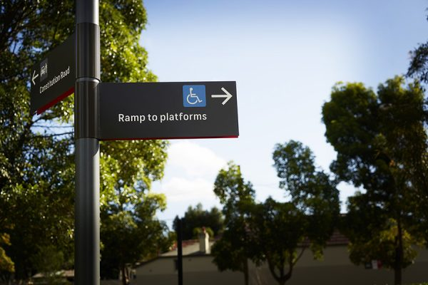 Architecture & Access Sydney Light rail signage and wayfinding