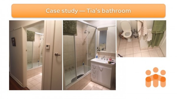 Home modification case study - Tia's bathroom pre-modification