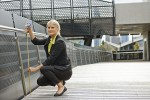 Architecture & Access access consultant measures handrail height to assess access compliance