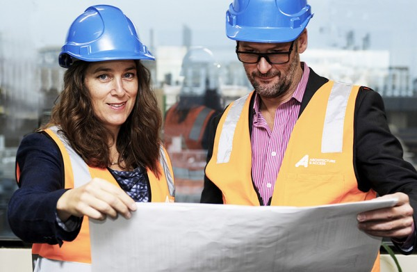 Allison Crunden Architecture & Access OHS & Safety in Design consultant pictured with project manager David Brown