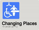 Changing places signage for adult change facilities