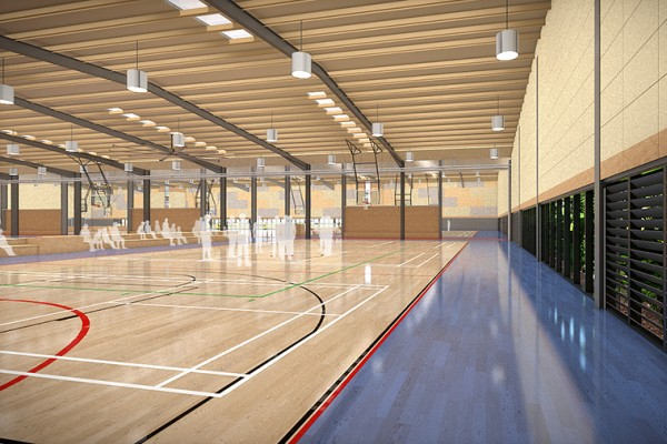 Werribee Sports and Fitness Centre project - Architecture & Access provided Safety in Design and Access Consulting services. Image courtesy of Williams Ross Architects.